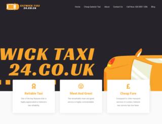 gatwicktaxi24.co.uk screenshot