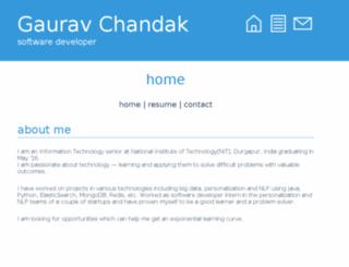gauravchandak.me screenshot