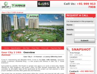 gaurcity214thavenue.com screenshot