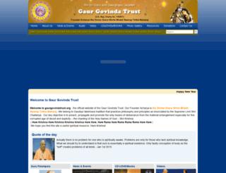 gaurgovindatrust.org screenshot
