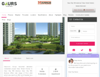 gaurssmarthomes.co.in screenshot