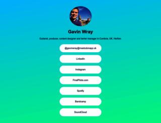 gavinwray.com screenshot