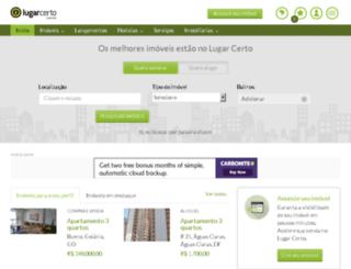 gazeta.lugarcerto.com.br screenshot