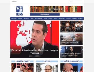 gazeta55.al screenshot