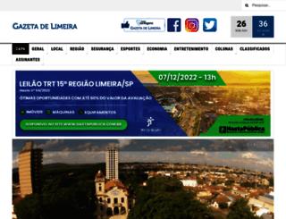 gazetadelimeira.com.br screenshot