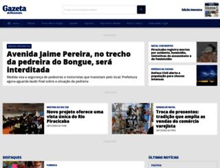 gazetadepiracicaba.rac.com.br screenshot