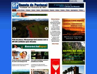 gazetadopantanal.com screenshot