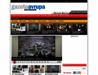 gazeteavrupa.com.tr screenshot