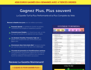gazette-turf.fr screenshot
