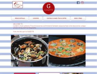 gazettebrasserie.co.uk screenshot