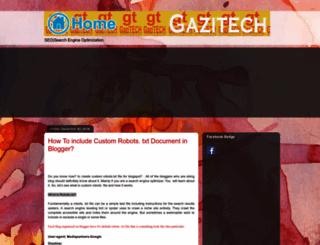 gazitech.blogspot.com screenshot