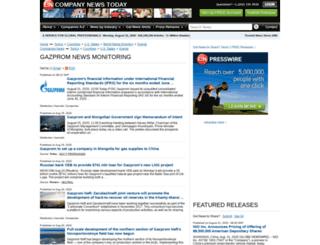 gazprom.einnews.com screenshot