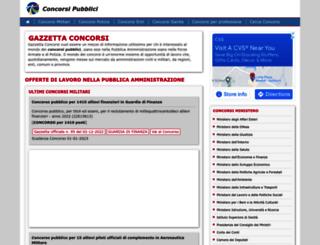 gazzettaconcorsi.eu screenshot
