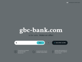 gbc-bank.com screenshot