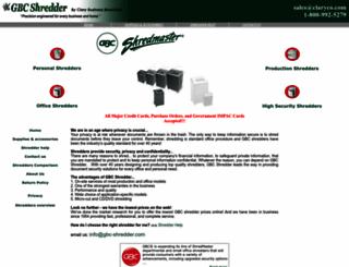 gbc-shredder.com screenshot
