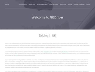 gbdriver.co.uk screenshot