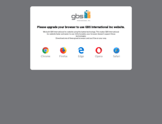 gbsinternationalinc.com screenshot