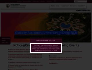 gbu.ac.in screenshot