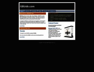 gbudb.com screenshot