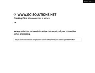 gc-solutions.net screenshot