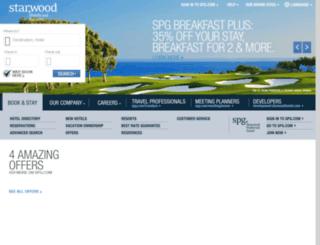 gc.starwoodhotels.com screenshot