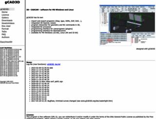 gcad3d.org screenshot