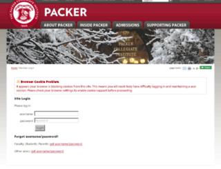 gcal.packer.edu screenshot