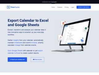 gcal2excel.com screenshot