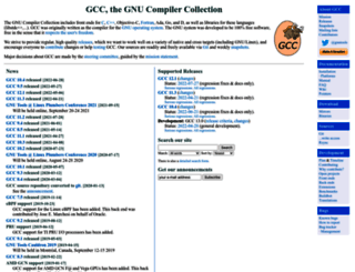 gcc.gnu.org screenshot