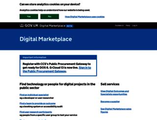 gcloud.civilservice.gov.uk screenshot