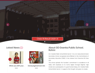 gdgoenkarohini.edu.in screenshot