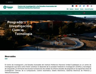gdl.cinvestav.mx screenshot
