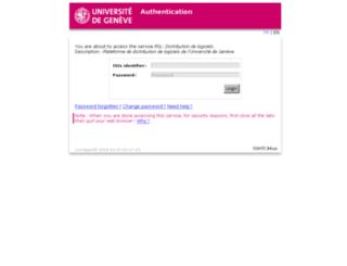 gdl.unige.ch screenshot