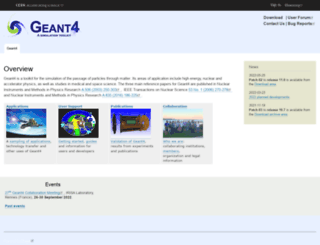 geant4.cern.ch screenshot