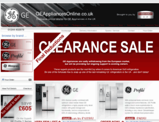 geappliancesonline.co.uk screenshot