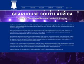 gearhouse.co.za screenshot