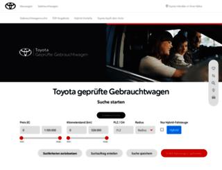 gebrauchtwagen.toyota.de screenshot