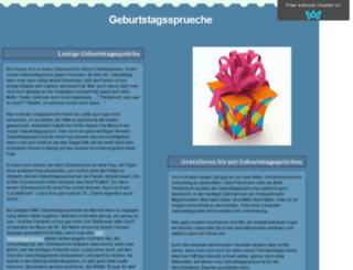 geburtstagssprueche.sitew.org screenshot