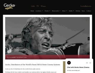 geckohomecinema.com screenshot