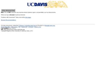 geckomail.ucdavis.edu screenshot
