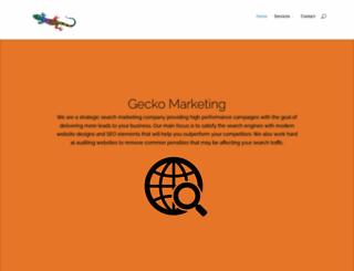 geckomarketing.co.za screenshot