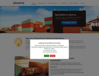 gecotex.es screenshot