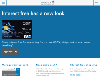 gecreditline.com.au screenshot