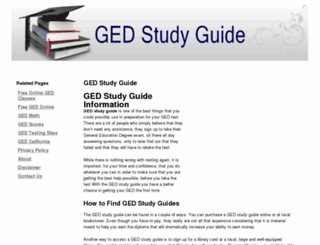 ged-studyguide.com screenshot