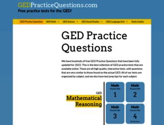 gedpracticequestions.com screenshot