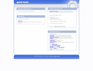 geek-tools.org screenshot