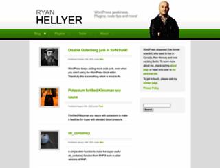 geek.ryanhellyer.net screenshot