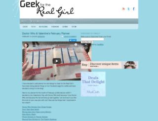 geek4therealgirl.com screenshot