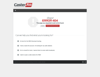 geekbeatradio.caster.fm screenshot