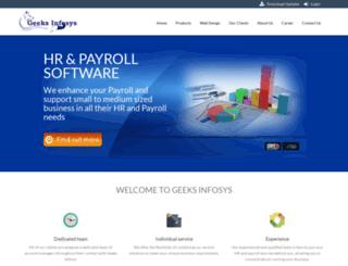 geeksinfosys.com screenshot
